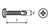 samovrtné šrouby s půlkulatou hlavou