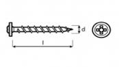 šroub do sádrokartonu WHN s rámovou hlavou