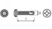 samovrtné šr. UNIQUADREX s půlkulatou hlavou