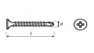 šroub do sádrokartonu TSD samovrtný